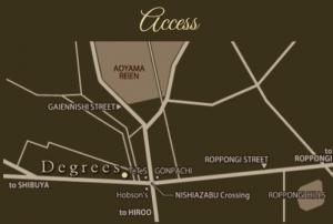 西麻布ラウンジディグリースdegreesのマップ