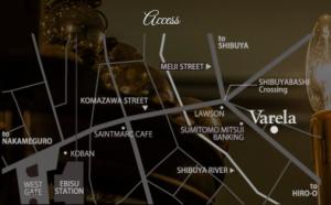 恵比寿会員制ラウンジバレラのマップ