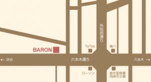 西麻布会員制ラウンジbalonバロンの地図