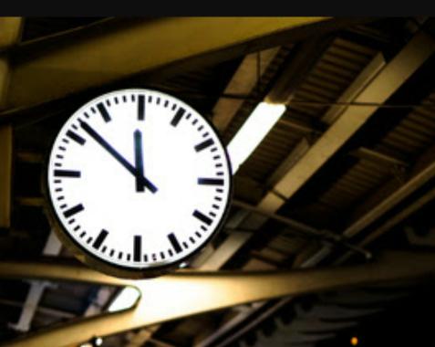 終電の時計表示