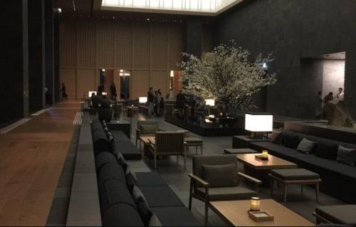 アマン東京のロビー